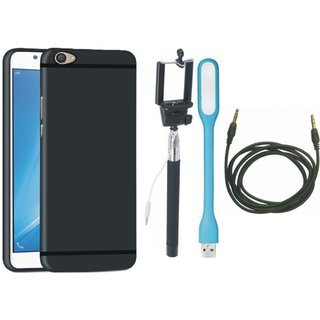 Redmi Y1 Lite Sleek Design Back Cover with Selfie Stick, USB LED Light and AUX Cable