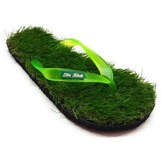 Pampys Angel Grass Slipper Slides for Men-Green
