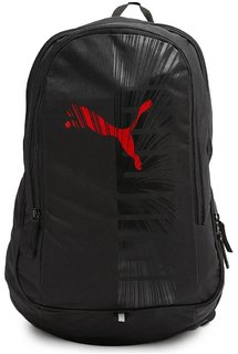 Puma Unisex Graphics Black - Red Backpack 33Ltr