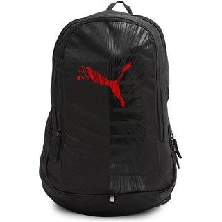Puma Unisex Graphics Black - Red Backpack 33Ltr