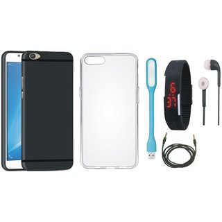 Moto G5s Back Cover with Silicon Back Cover, Digital Watch, Earphones, USB LED Light and AUX Cable