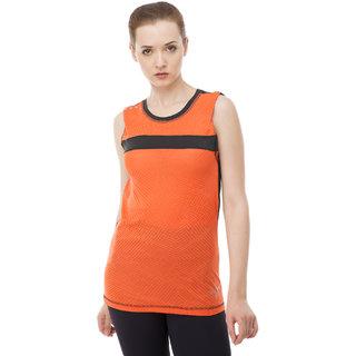 aarmy fit orange dry fit ladies vest