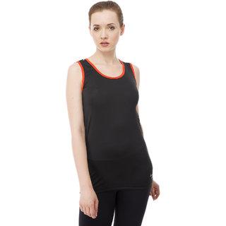 aarmy fit black dry fit ladies vest