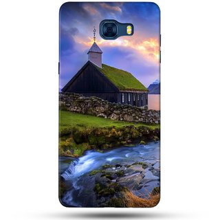 PREMIUM STUFF PRINTED BACK CASE COVER FOR SAMSUNG GALAXY C7 DESIGN 5197