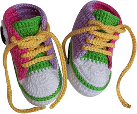 ChoosePick Crochet Handmade Baby Shoes/Booties for Age 6 to 9 months 26
