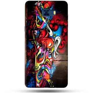 PREMIUM STUFF PRINTED BACK CASE COVER FOR SAMSUNG GALAXY C7 DESIGN 5562