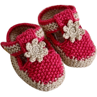 ChoosePick Crochet Handmade Baby Shoes/Booties for Age 0 to 3 months 8
