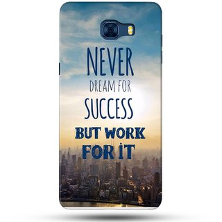 PREMIUM STUFF PRINTED BACK CASE COVER FOR SAMSUNG GALAXY C7 DESIGN 5628
