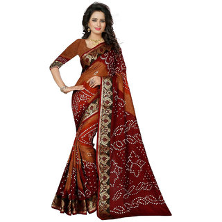 Florence Multicoloured Poly Silk Printed Saree with Blouse