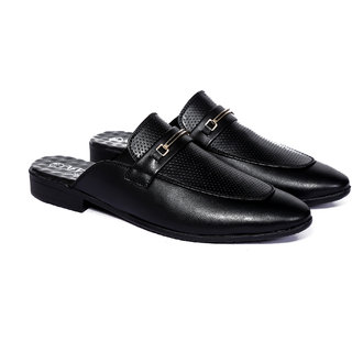 Frye Mens Black Synthetic Mules