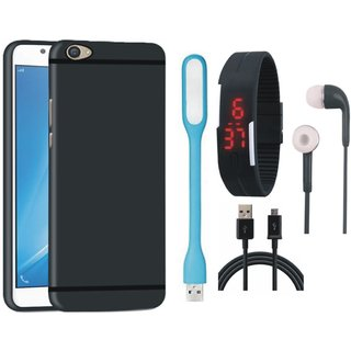 K6 Note Ultra Slim Back Cover with Digital Watch, Earphones, USB LED Light and USB Cable