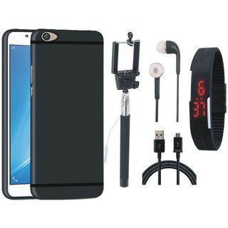 K6 Note Ultra Slim Back Cover with Selfie Stick, Digtal Watch, Earphones and USB Cable
