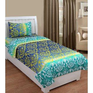 ZAIN Multicolor Cotton Single Bedsheet