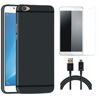 Redmi Note 5 Ultra Slim Back Cover with Tempered Glass and USB Cable