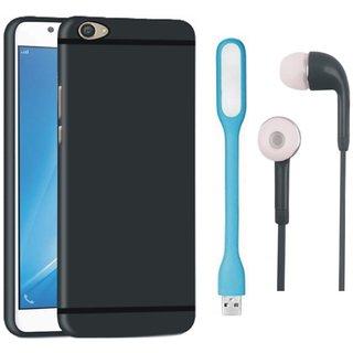Vivo V5s Sleek Design Back Cover with Earphones and USB LED Light