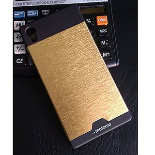 Motomo Sony Xperia Z5 Cover by BACKER THE BRAND Premium look case Perfect fit and Aluminium finish For Ladies and Girls Boys Premium Look - Black