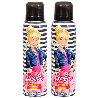 Barbie Fabulous Me Deodorant for Girls Combo Pack of 2 150ML each 300ML