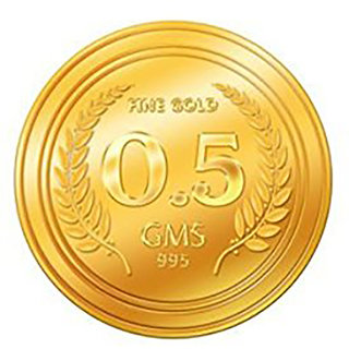 Guarantee Ornament House Pure 0.5g 999 Gold Coin 24KT