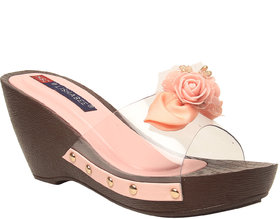 MSC Women Pink Synthetic Wedges