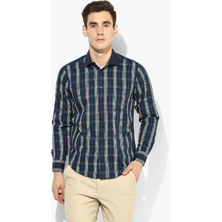 eb42ccf488 Buy Red Chief Blue Full Sleeves Casual Regular Fit Shirts (8110310 ...
