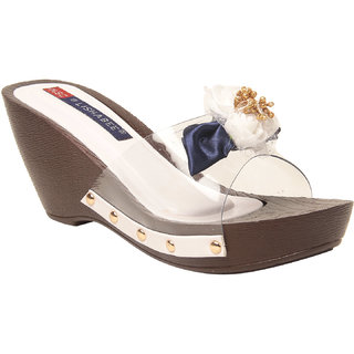 MSC Women White Synthetic Wedges