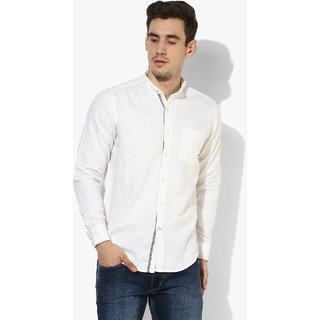 b3ec9d532b Buy Red Chief Off White Full Sleeves Casual Regular Fit Shirts (8110325  028) Online - Get 40% Off