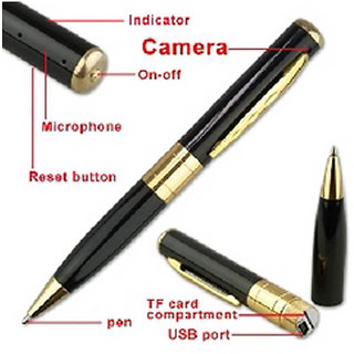 Spy Pen Camera Video / Audio Recording ,16GB memory Supportable, While recording no light Flashes