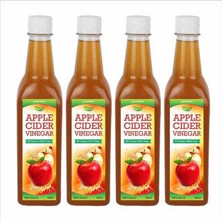 Biotrex Apple Cider Vinegar with mother Vinegar- 500 ml Pack of 4