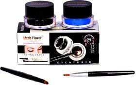 music flower gel eyeliner (blackblue)
