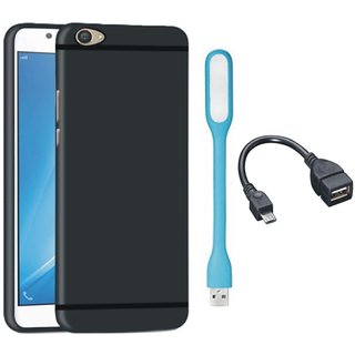 Samsung On7 Prime Soft Silicon Slim Fit Back Cover with USB LED Light and OTG Cable