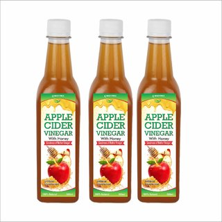 Biotrex Apple cider with Honey and mother Vinegar - 500 ml Pack of 3