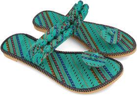 Be You Green Tie & Dye Women's Ethinic Flats