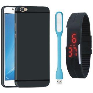 Motorola Moto E4 Plus Ultra Slim Back Cover with Digital Watch and USB LED Light