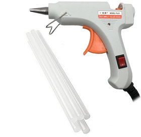 Imstar 20Watt White Glue Gun with 5 Glue Sticks and on / off switch