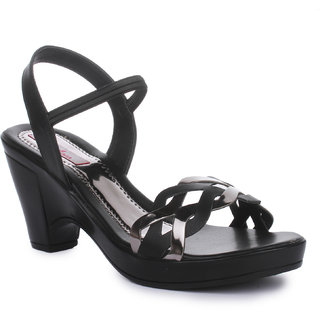 Picktoes Black Block Heels