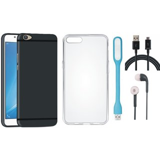 Samsung On7 Prime Ultra Slim Back Cover with Silicon Back Cover, Earphones, USB LED Light and USB Cable
