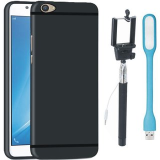 Samsung On7 Prime Stylish Back Cover with Selfie Stick and USB LED Light