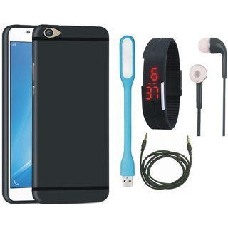 Samsung C7 Pro Cover with Digital Watch, Earphones, USB LED Light and AUX Cable