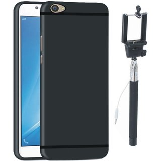 Samsung C7 Pro Cover with Free Silicon Back Cover and Selfie Stick