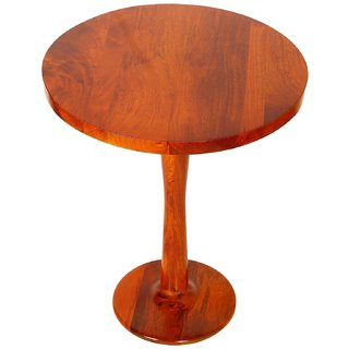Santosha Decor Solid Sheesham Wooden Folding Table /Coffee Table /Center Table /Bedside Sofa Side Table /Living Room Furniture /Waiting Room Balcony and Office - Teak Finishing With SPECIAL PU POLISH