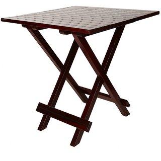 Santosha Decor Solid Sheesham Wooden Folding Table /Coffee Table /Center Table /Bedside Sofa Side Table - Mahogany Finish With PU Polish