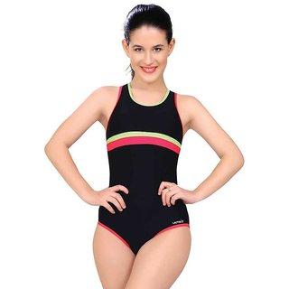 Lactra V Cut Solid Women's Multicolor  Swimsuit