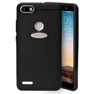 ECellStreet Protection Slim Flexible Soft Back Case Cover For Tecno Camon i Sky - Black