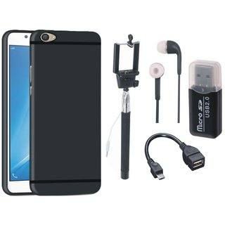 Redmi Y1 Lite Back Cover with Memory Card Reader, Selfie Stick, Earphones and OTG Cable