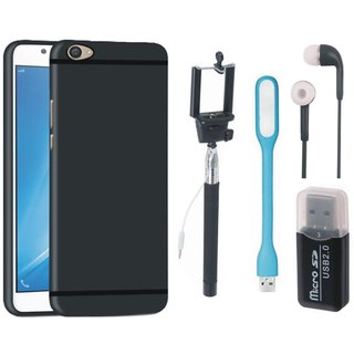 K8 Back Cover with Memory Card Reader, Selfie Stick, Earphones and USB LED Light