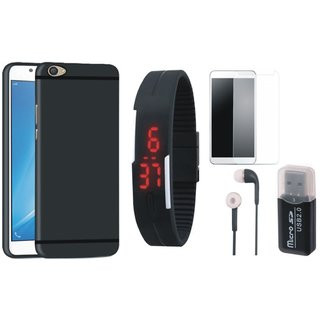K8 Back Cover with Memory Card Reader, Free Digital LED Watch, Tempered Glass and Earphones