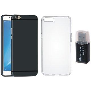 Vivo Y55L Silicon Anti Slip Back Cover with Memory Card Reader, Silicon Back Cover, Free Silicon Back Cover