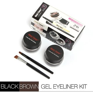 Music Flower Gel Eyeliner Black and Brown