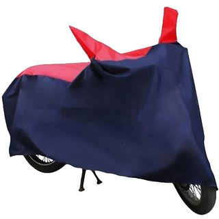 HMS RED AND BLUE BIKE BODY COVER FOR SPLENDOR PRO CLASSIC -(FREE ARMS+MASK)