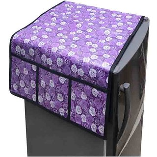 The Intellect Bazaar Single PVC Fridge Top Cover,Purple